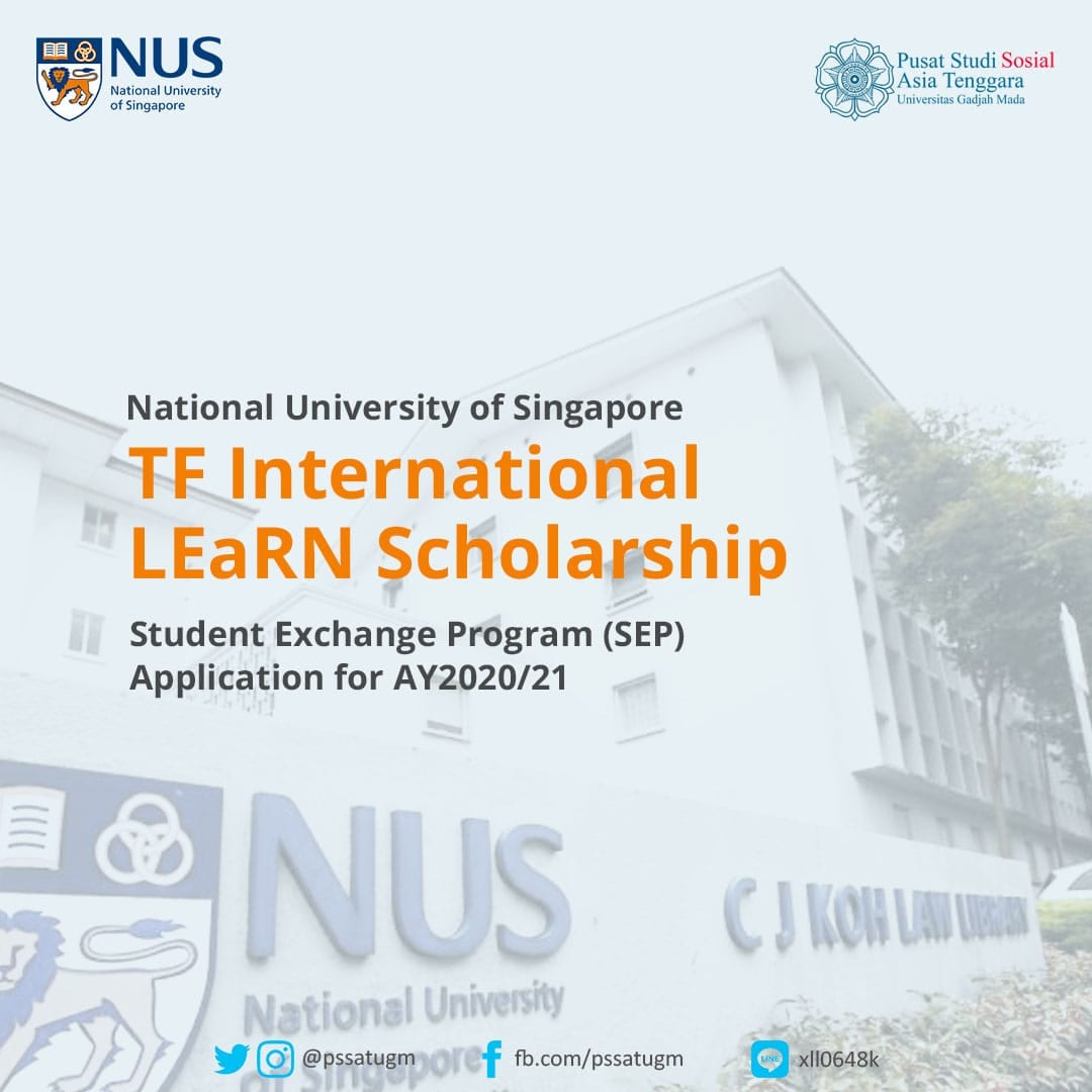 National University of Singapore – Student Exchange Program (SEP) Application for AY2020/2021