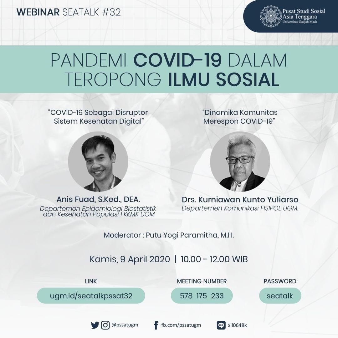 [SEATALK PSSAT #32] Pandemi Covid-19 dalam Teropong Ilmu Sosial