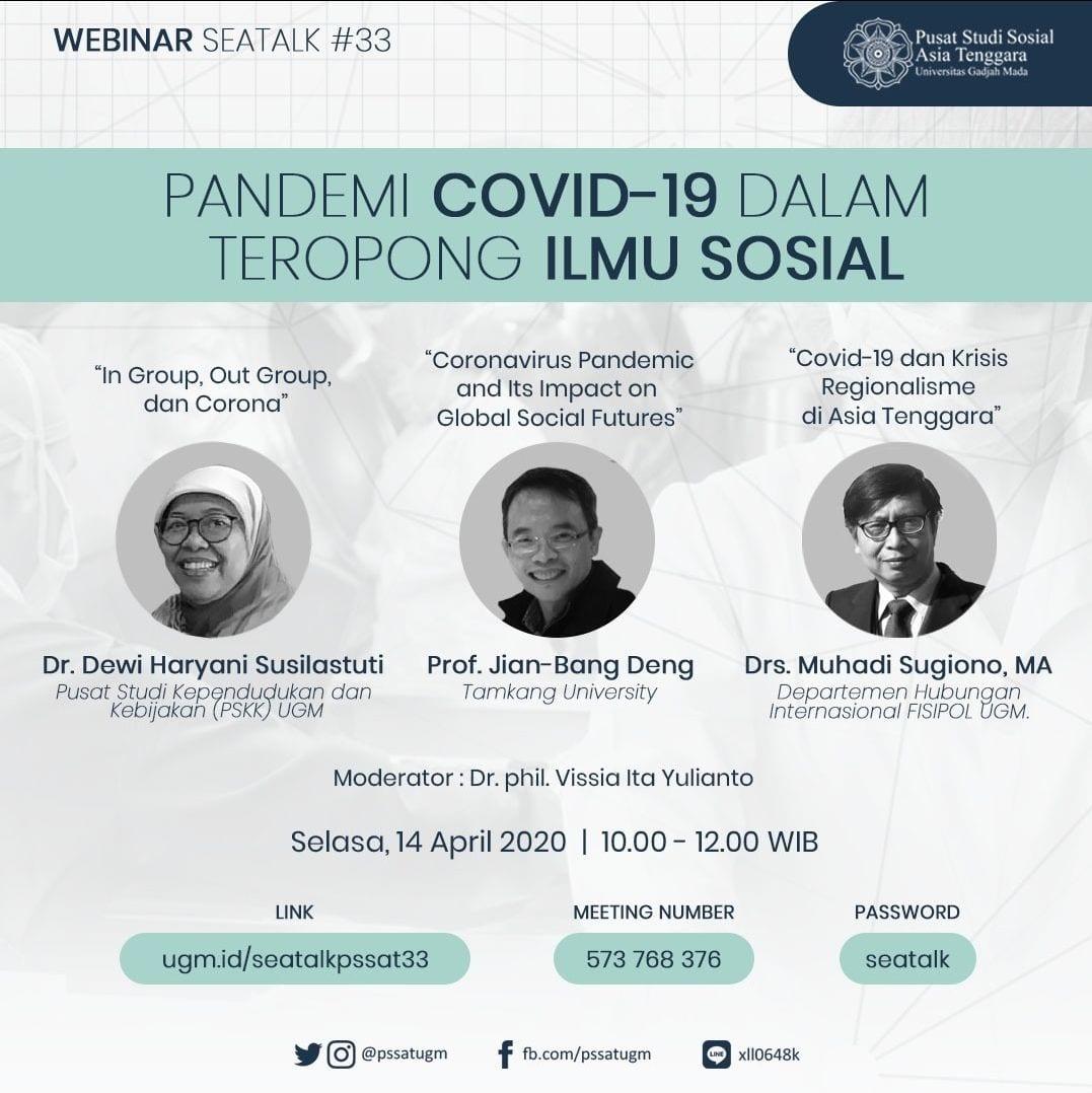 [SEATALK PSSAT #33] Pandemi Covid-19 dalam Teropong Ilmu Sosial