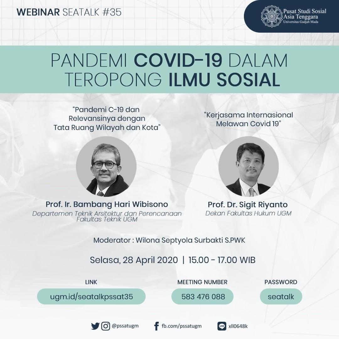 [SEATALK PSSAT #35] Pandemi Covid-19 dalam Teropong Ilmu Sosial