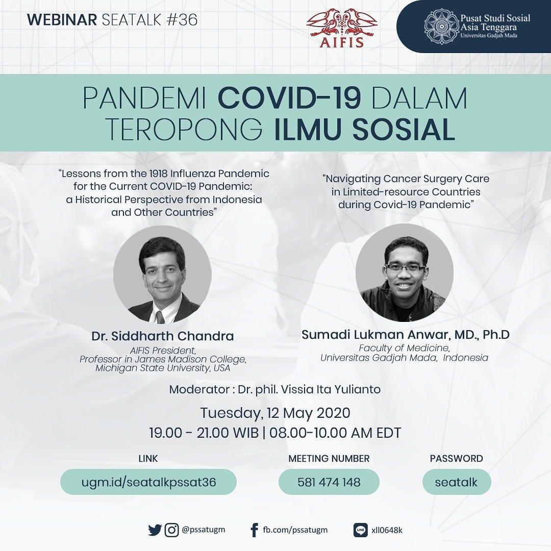[SEATALK PSSAT #36] Pandemi Covid-19 dalam Teropong Ilmu Sosial
